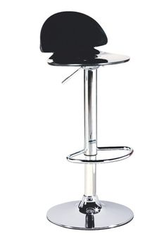 The Alfonso Gas Lift Bar Stool in Black.
