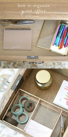 How to organize your office - simple tips and tricks to blend function and design using InkJoy Gel pens