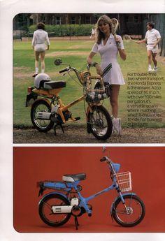 Honda Express - 1980's line up advertisement