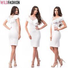 Vara, eleganța se poartă în alb... 👗✨💕   https://www.wildfashion.ro/a581-rochie-midi-eleganta-cu-dantela-si-volanase-in-partea-superioara?utm_medium=org.pc.social&utm_source=fb-org&utm_campaign=made-in-ro&utm_content=post