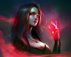 ArtStation - Scarlet Witch, Kok Loon Tan
