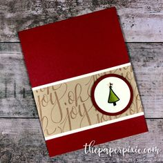 Here's another project featuring one of my favorite Holiday Catalog stamp sets, Watercolor Christmas! I CASEd (copy and share everything) this card from my dear friend, Cheryl Lucas! This was another card I received from the Stampin' Pretty Pals swap during OnStage that I just fell in love with. It is quick and easy to…