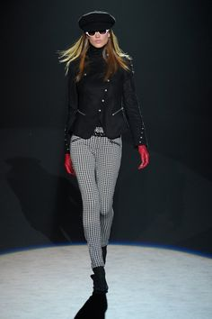 love the button arrangement on this biker jacket by Betsey Johnson #Fall2012