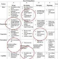 Here you will find a basic writing rubric for elementary grade students, along with samples of an expository and narrative rubric. Plus: Learn how to use a writing rubric. 5th Grade Writing, Middle School Writing, Expository Writing, Paragraph Writing, Persuasive Essays, Argumentative Essay, Writing Strategies, Writing Skills, Grammar Skills