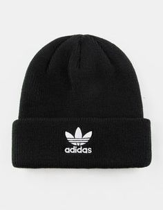 0cee60d1663 ADIDAS Originals Trefoil Black Womens Beanie - BLACK - CK2438