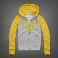 Abercrombie And Fitch Mens Hoodies Gray Yellow Online