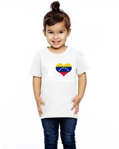 i love venezuela flag with seven stars Toddler T-shirt