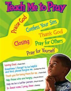 Teach me to pray chart for kids.