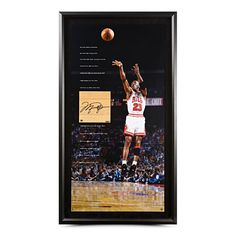 c7395dd5857 Michael Jordan Autographed Bulls Game-Used Floor Piece &