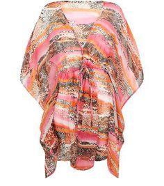 <3 Love! Amalie & Amber New Look Amalie & Amber Pink Snakeskint Print Kaftan #dress #women #covetme