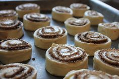 Freezer cinnamon rolls - tasted way too healthy for cinnamon rolls. If I try it again I'll use much more bread flour than whole wheat.