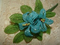 Vintage French Beaded Flower spray