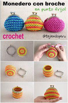 Marvelous Crochet A Shell Stitch Purse Bag Ideas. Wonderful Crochet A Shell Stitch Purse Bag Ideas. Crochet Wallet, Crochet Coin Purse, Bag Crochet, Crochet Diy, Unique Crochet, Crochet Handbags, Crochet Purses, Crochet Gifts, Crochet Earrings