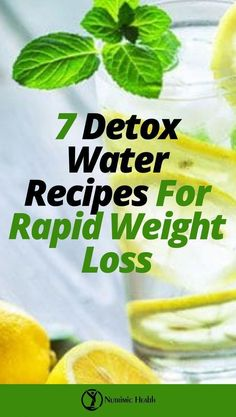 7 Detox Water Recipes For Rapid Weight Loss. Take a cue from some of these awesome detox water recipes, and you will learn how to add your own ingredients with time. Detox Diet Drinks, Natural Detox Drinks, Fat Burning Detox Drinks, Detox Juices, Cleanse Detox, Juice Cleanse, Diet Detox, Stomach Cleanse, Detox Salad