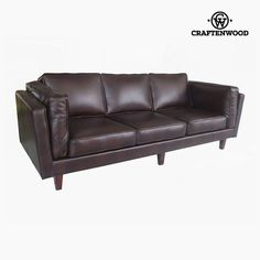 Sofa Pine Polyskin Brown x 92 x 80 cm) by Craftenwood Sofa Design, Sofas, Velvet Chesterfield Sofa, 2 Seater Sofa, Sofa Bed, Home And Garden, Lounge, Brown, Furnitures