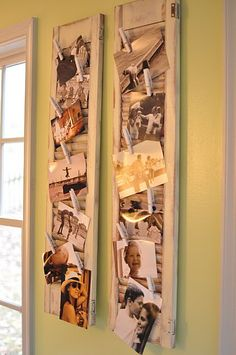 I love this!!  Our bedroom set has shutter details and this would be cute on our wall and I could put up all our dating photos up....I love getting good ideas!!  Rent-Direct.com - Apartment Rentals in NYC with No Broker's Fee.