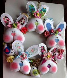 Maravilhosas Idéias para Suas Páscoa com Artesanatos em Feltro Spring Projects, Easter Projects, Spring Crafts, Easter Crafts, Felt Crafts, Crafts To Make, Holiday Crafts, Easter Celebration, Easter Party
