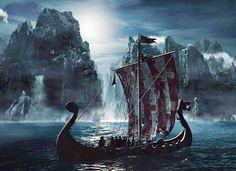A norse ship Viking Life, Viking Art, Viking Warrior, Wald Tattoo, Thor, Valhalla Viking, Germanic Tribes, Scenery Pictures, Vegvisir