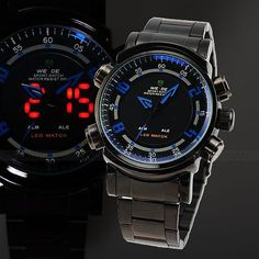 """This watch is """"WEIDE"""" series, attractive combination of sport and technological charm, digital analog and quartz to guarantee durable and accurate time. It not only a watch can tell you the time, but also a alarm clock can wake you up.It is best gift for your friends. Product Description  Feat..."""