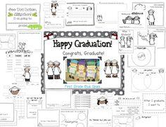 Graduation Kid Craft and Kindergarten Freebies - First Grade Blue Skies