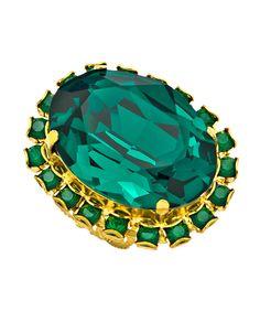 Liz Palacios Emerald Crystal Ring