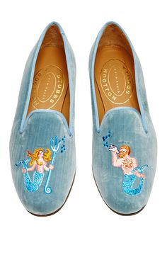 Happy Menocal Mermaid Slipper by Stubbs & Wootton for Preorder on Moda Operandi
