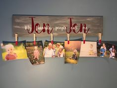 Excited to share the latest addition to my #etsy shop: Grandparent picture sign, My favorite people call me sign, grandparent clothespin picture sign, gift for grandparent from grandkids