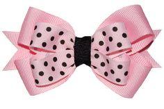 Pink & Black Hair bow for little girl.
