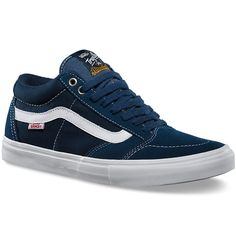 Vans TNT SG Washed Canvas Shoes - Navy/White - Men's 8.0, Women's 9.5