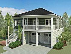 Baxter Street - Coastal Home Plans (2,150 heated sf, 4bd/3ba) l Beach Home Designs l www.DreamBuildersOBX.com