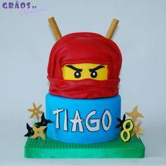 Lego - Ninjago - Grãos de Açúcar - Bolos decorados - Cake Design