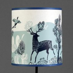 stag lampshade - regular - blue by lush designs