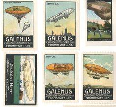 Pre WW1 period German aviation stamps