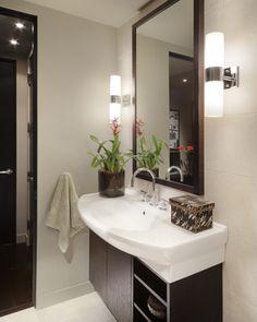 Carson Poetzl, Inc. - contemporary - Bathroom - Phoenix - Carson Poetzl, Inc. Sconce for Bath 2 (but horizontal above mirror)