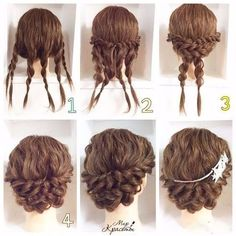 This pigtail hairstyle is beautiful. I will do that for sure – Haare Stil – Wedding HairStyles Medium Hair Styles, Curly Hair Styles, Natural Hair Styles, Updos For Curly Hair, Braided Updo For Short Hair, 4c Hair, Braided Hairstyles, Cool Hairstyles, Wedding Hairstyles