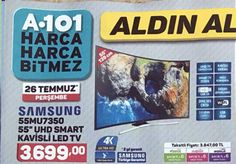 """A101 aktüel ürünlerde satılacak olanSamsung UE-55MU7350 55"""" kavisli televizyon hakkında incelememizi ve kullanıcı yorumlarını yazımızda bulabilirsiniz. Ürün"""