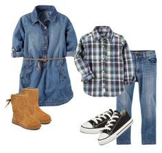 """""""Big Sis Little Bro"""" by bethanydarin on Polyvore featuring Converse and UGG"""