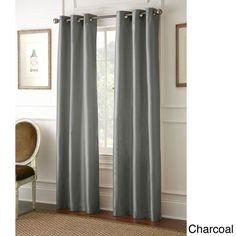 Faux Silk 84-inch Blackout Curtain Panel Pair