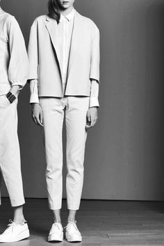 boyish cut, full white and flat shoes. ©ordinarypeople