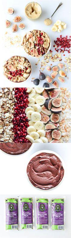 Autumn Acai Bowls with Vanilla Bean Cashew Butter |  howsweeteats.com @howsweeteats