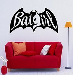 City Skyline Buildings Batgirl Ray Of Light Removable Wall - Superhero wall decals for girls