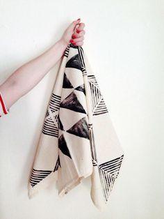 DIY: Hand-Stamped Napkins with #travelingstamp