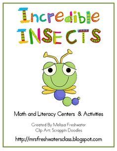 Bug Theme Math & Literacy Centers