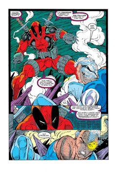 New Mutants #98 First app Deadpool - Rob Liefeld - first ever Deadpool panel