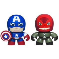 Captain America & Red Skull Mini Muggs 2-Pack  Released in 2011 by Hasbro
