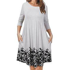 Hot Sale! Shybuy Women s T Shirt Dress with Pockets 62ff6093d5f0e