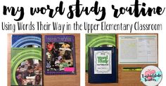 Are you wondering how to bring a word study routine in your classroom to improve student spelling and writing? Then you're going to love the ideas here!