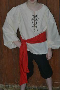 Boys Size 10 Shirt Renaissance Reenactment Theater Pirate Costume   eBay