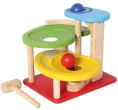 I´M Toy Aktion-Kugelbahn, ab 18 Monaten, aus Holz, Tellerbahn, | 3056 / EAN:08850714291209