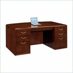 "DMi Summit Executive Bow Front Desk (Flat Pack) by DMi Furniture. $1869.95. The Summit series are all about choices. Summit features a modified reeded edge with split nickel hardware or a radius coped edge with curved hardware.The basic pieces are offered either flat packed or assembled to suit your budget and needs.Constructed of wood, cherry veneers and other wood productsCherry finishCamlock construction with reinforcement connectors for maximum stabilityWork surfaces are 1.5""..."